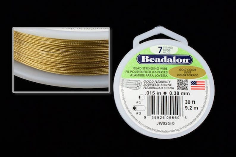 For Beading 0.38mm Tigertail Wire 50 Meter Roll UK Seller Choose Colour