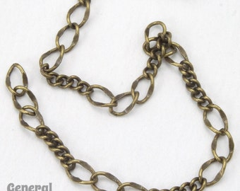 5mm x 3mm Antique Brass Figaro Chain #CCE258