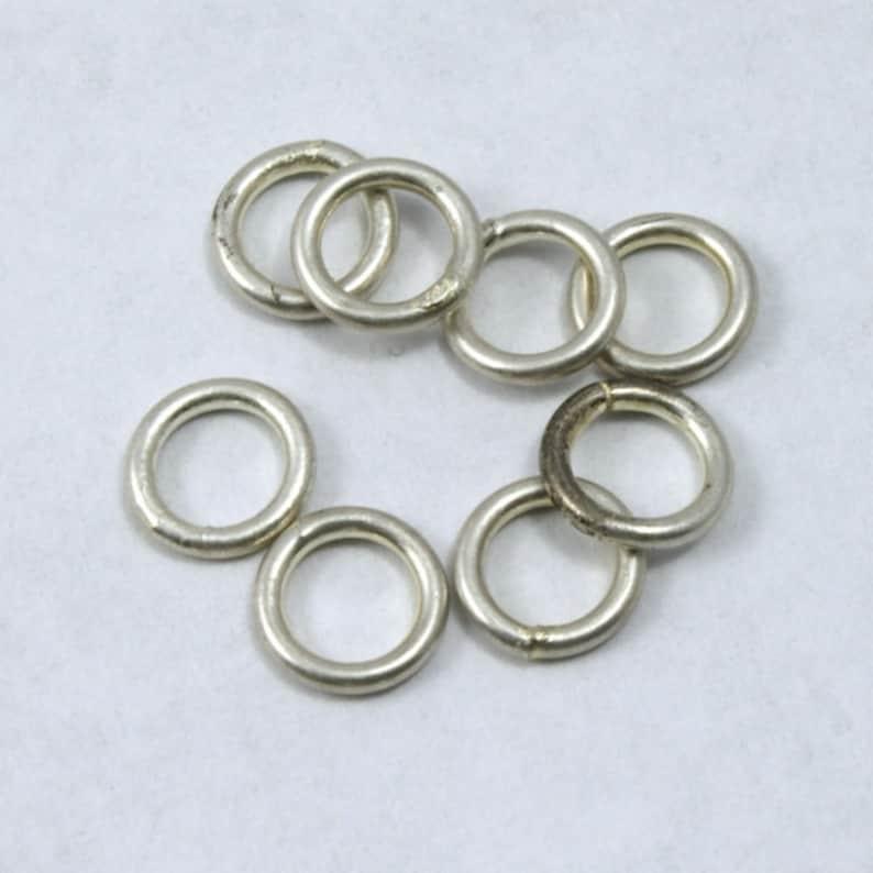 6mm Antique Silver Jump Ring 21 Gauge #RJA024