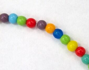 4mm Opaque Multi Druk Bead #GAB079