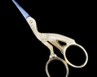 """3.5"""" Gold Stork Scissors (Pair) TLE019"""