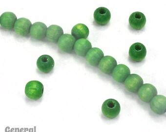 5mm Green Wood Bead #DXH002