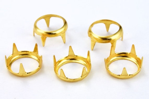 7MM//SS34 Rim Settings 75 Pieces Gold