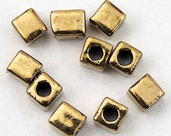 3mm Bronze Cube Bead (20 gm) #JAY010