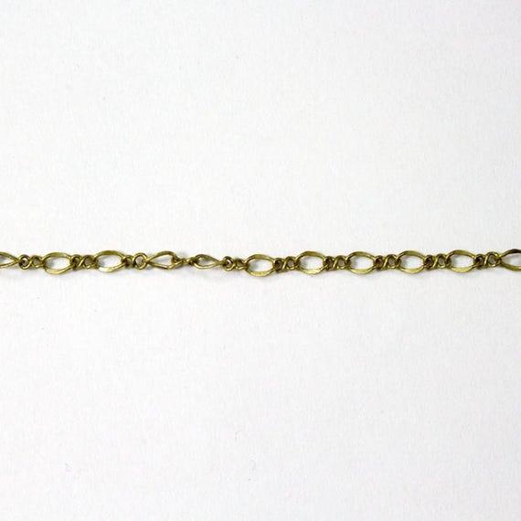 Antique Brass 2mm x 4mm Peanut Chain #CC150