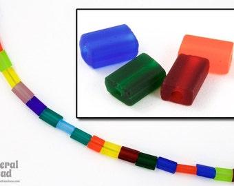 3mm x 5mm Matte Transparent Multicolor Niblet Mix (40 gm)  #GDM022