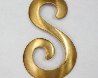 "70mm Brass Fancy ""S"" (2 Pieces) #2679"