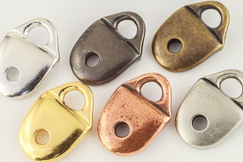 20 Pcs 17mm Bright Gold TierraCast Plain Strap Tip #CK486