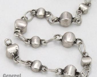 Antique Silver Alternating Disc Chain #CC250