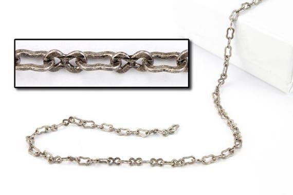 Antique Silver 2mm Box Chain #CC205