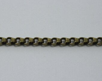 Antique Brass, 5.5mm x 3.8mm Box Chain #CC166