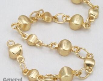 Matte Gold Alternating Disc Chain #CC250