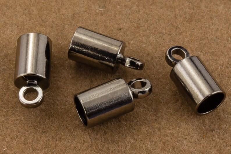 3mm Gunmetal Cord End Cap #MFC116