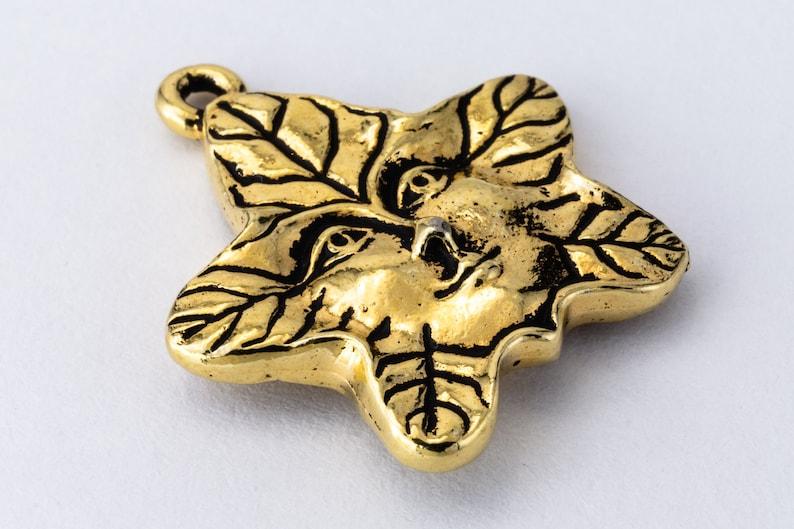 #CK567 22mm Antique Gold TierraCast Tree Spirit Drop 10 Pcs