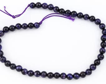 4mm Purple Tiger Eye Round Bead (45 Pcs)