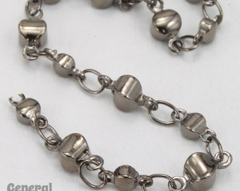 Gunmetal Alternating Disc Chain #CC250