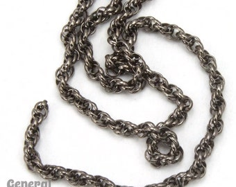 1.6mm Gunmetal Spiral Rope Chain #CC259