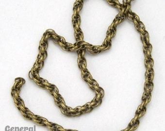 1.6mm Antique Brass Spiral Rope Chain #CC259
