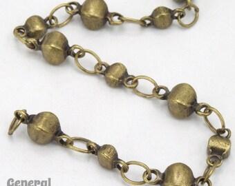 Antique Brass Alternating Disc Chain #CC250