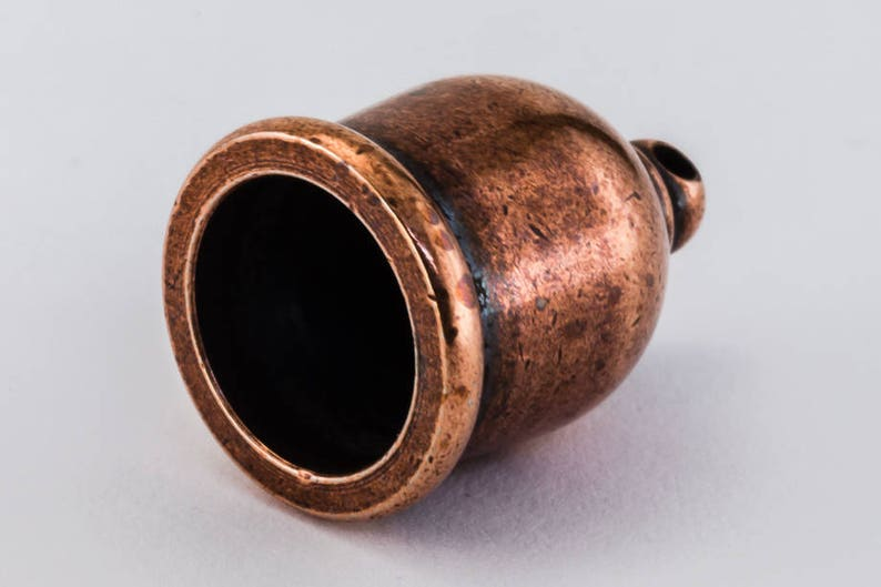 10mm Antique Copper TierraCast Taj Mahal Cord End #CK423 5 Pcs