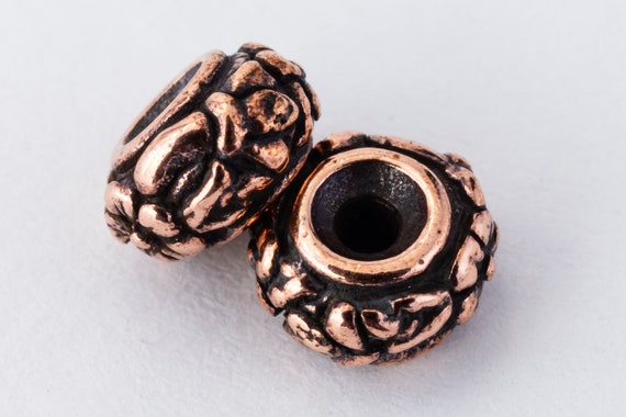 6mm Antique Copper TierraCast Meadow Bead #CK672 20 Pcs