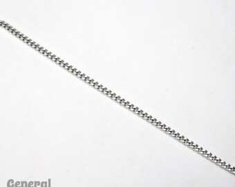 Stainless Steel 5mm x 3.25mm Hammered Curb Chain CCA011
