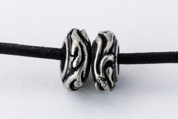 6mm x 5mm Antique Silver TierraCast Pewter Letter I Bead #CKI237