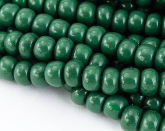 6/0 Opaque Forest Green Seed Bead (40 Gram) #CSB040