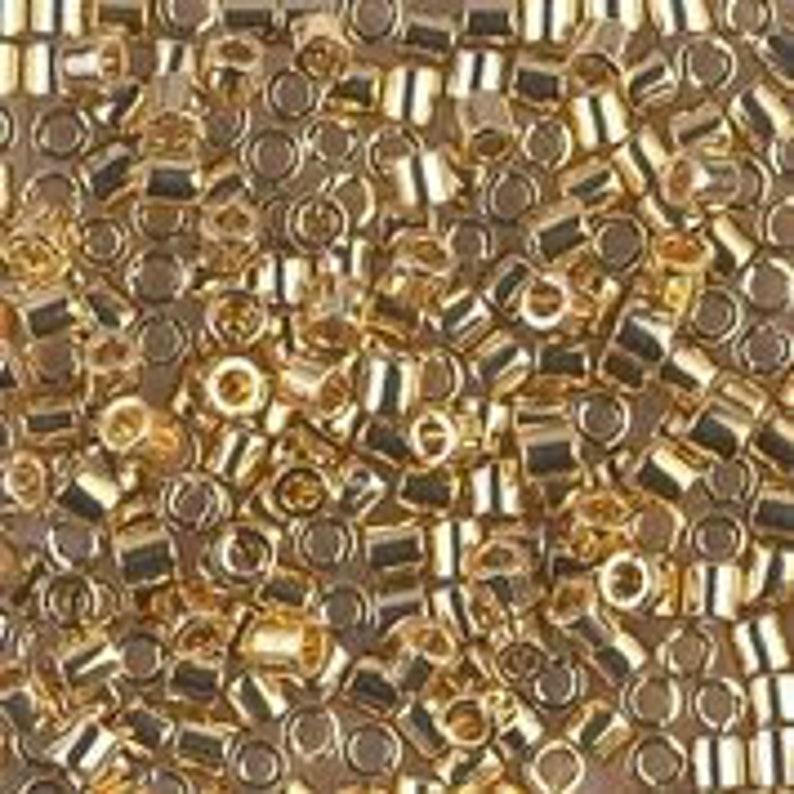 DBS034-150 Light 24 Karat Gold Miyuki Delica Beads 5 Gm, 25 Gm, 100 Gm