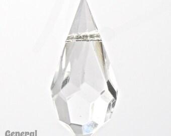 9mm x 18mm Crystal Cut Glass Teardrop #XCD001