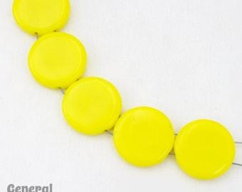 20mm Yellow Flat Two Hole Disc (6 Pcs)  #4718