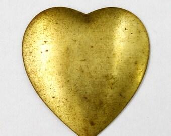 32mm Brass Heart (2 Pcs) #1154