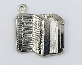 15mm Silver Accordion Charm #CHD172