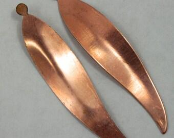 50mm Copper Feather Shape (5 Pcs) #1568
