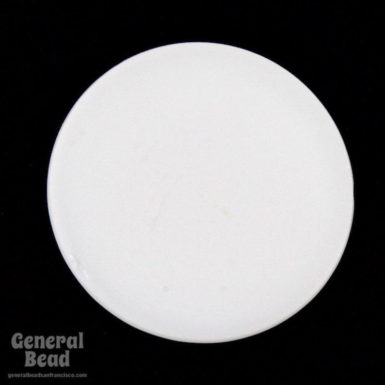 #4949 18mm White Round Flat Cabochon 6 Pcs