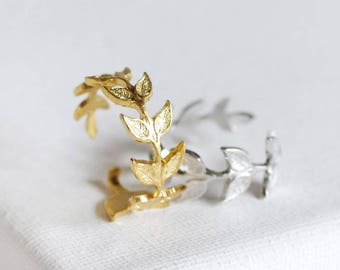 olive branch ring . delicate leaf ring . adjustable leaf ring . branch ring . twig ring . twig jewelry . leaf jewelry . arwen ring