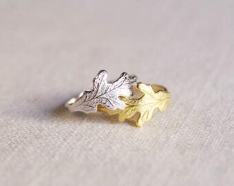 old oak . nature inspired leaf ring