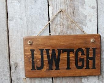 IJWTGH Wood Sign 420life Weed Decor Hippie Boho Dorm Smoke Room Bar Gypsy Highlife Cannabis