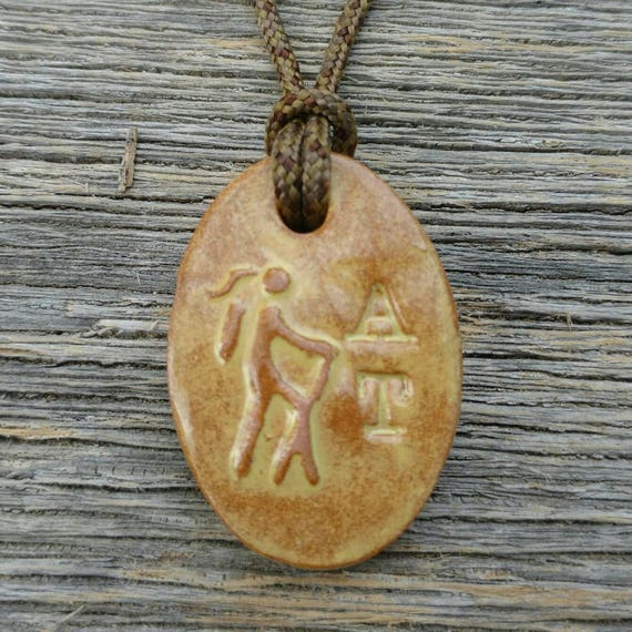 11ea630fa55 Appalachian Trail AT Girl Hiker Necklace in Wheat