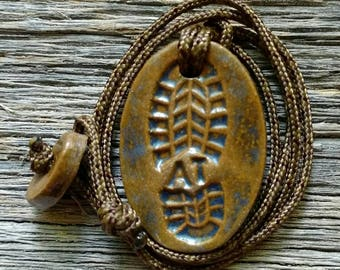 Outdoor Adventure Appalachian Trail (AT) Hiking Boot Print Necklace