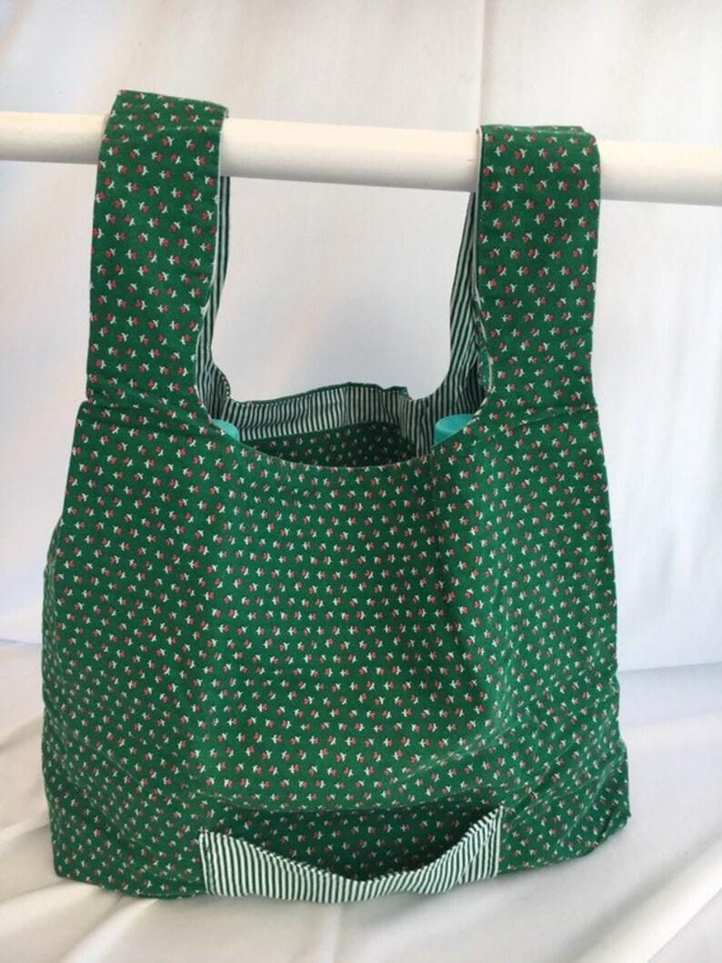Christmas Green  reusable grocery bag image 0
