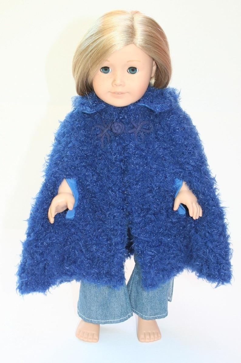 Cape Fuzz  doll's blue cape image 0