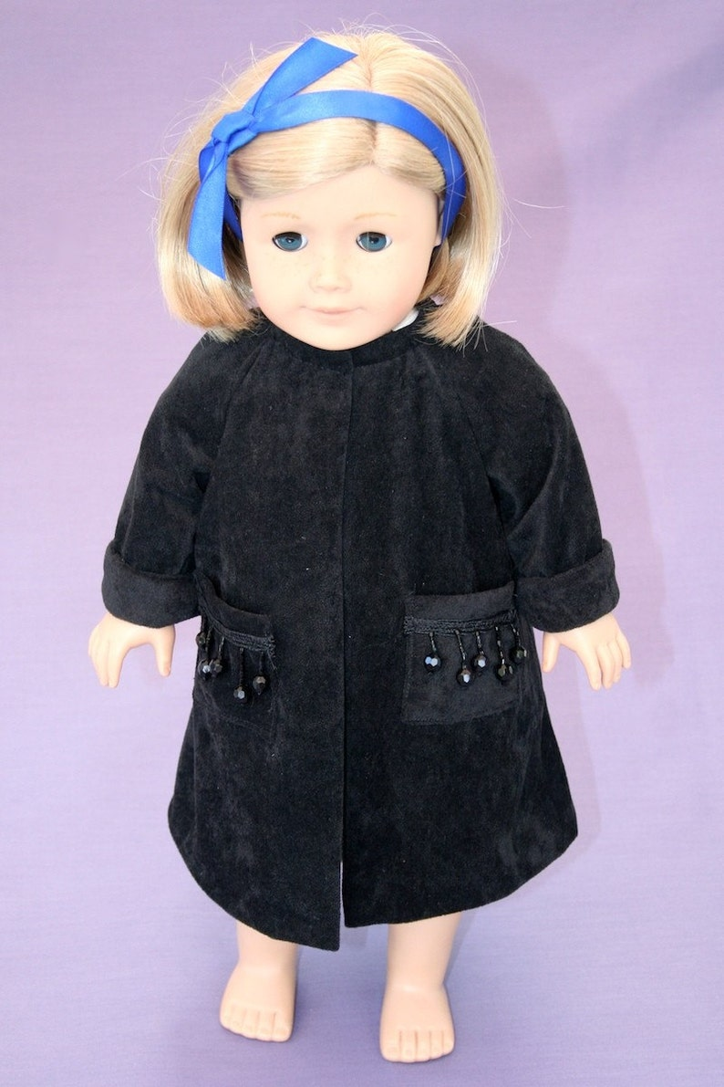Black Beauty  18 inch doll's coat image 0