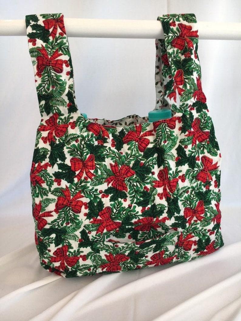Christmas Bows  reusable grocery bag image 0