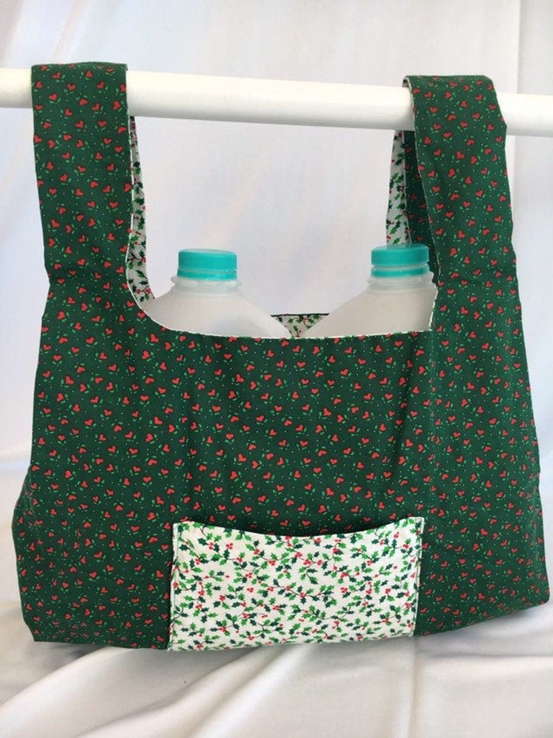Hollyberries  reusable grocery bag image 0