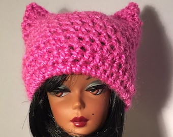 7a90ea1c3f6 Pink pussy cat hat for Barbie