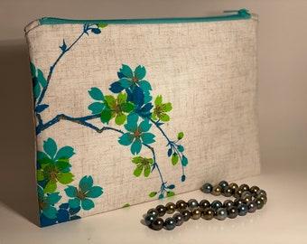 Clutch Purse, Asian Clutch purse , Vintage Shaheen, Summer clutch, Alfred Shaheen fabric clutch purse