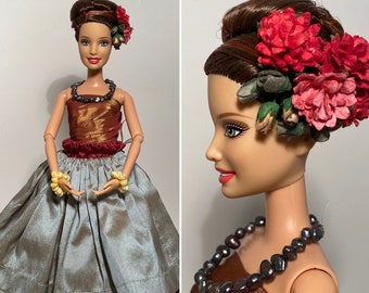 Barbie, Hawaiian Barbie, Barbie doll, Hawaiian Hula doll, Hula dancer, Handmade Barbie doll clothes, OOAK Barbie, collector barbie doll