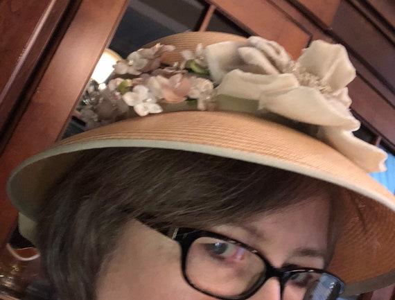 Vintage hat, ladies hat, 60s hat, summer hat