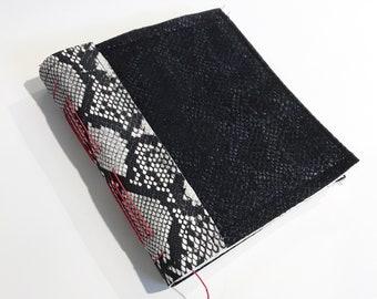 Handmade Journal Sketchbook Red Thread Snakeskin